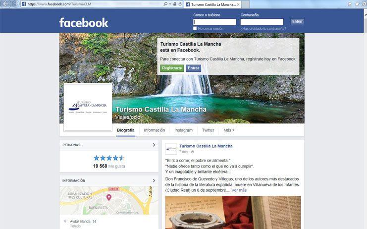 Buena acogida en las redes sociales de la nueva página oficial en Facebook de Turismo de Castilla-La Mancha