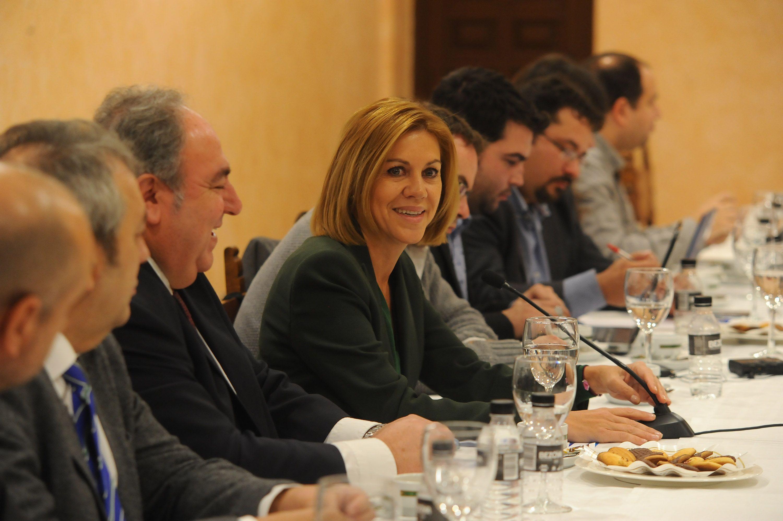 """Cospedal: """"Los españoles no quieren alianzas extrañas ni pactos de perdedores"""""""