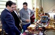 Prieto acude a la apertura oficial de la V Feria de Antigüedades de Cuenca en el recinto de La Hípica
