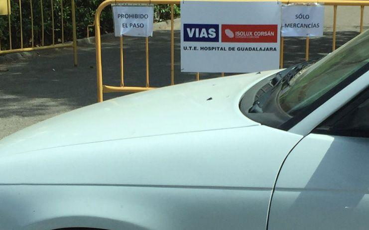Aviso de corte de tráfico en Guadalajara
