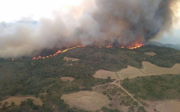 El delegado del Gobierno en Castilla-La Mancha ha activado la intervención de la Unidad Militar de Emergencias (UME) en incendio de Férez, en la provincia de Albacete