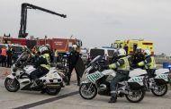 El accidente en Villargordo se produjo al reventarle una rueda al camión y chocar por detrás el autobús