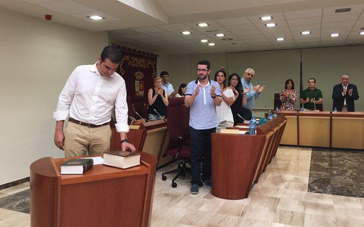 Raúl Casla toma posesión como concejal de Ciudadanos en el Ayuntamiento de Illescas