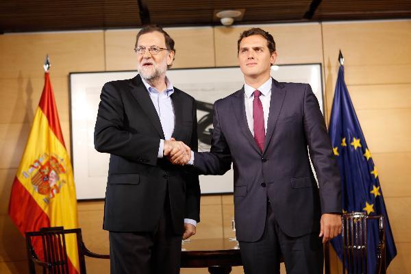 El PP dice que Rajoy y Rivera se reunieron anoche en Moncloa