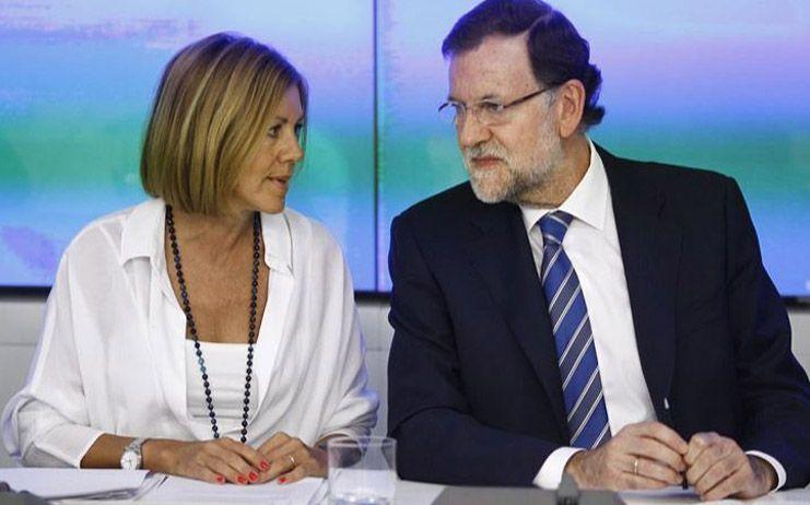 """Cospedal asegura que Rajoy tendrá """"a todo el partido con él"""" si quiere repetir"""