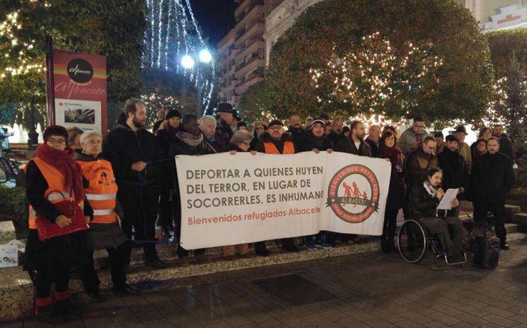 Bienvenidos Refugiados Albacete no descansa el día de Reyes