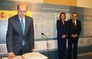 Cospedal y Gregorio asisten al acto de toma de posesión de Juan Pablo Sánchez como subdelegado del Gobierno en Guadalajara