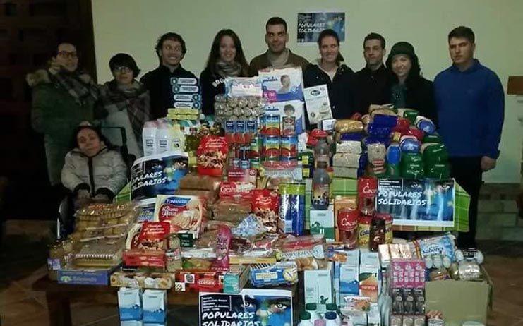 Nuevas Generaciones recoge más de 10.000 kilos de alimentos para las familias más necesitadas de la provincia de Ciudad Real
