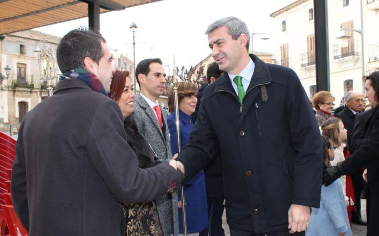 Álvaro Gutiérrez acompaña a los vecinos y vecinas de Belvís de la Jara el día de su patrón