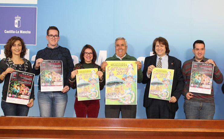 """El Gobierno de Castilla-La Mancha muestra su apoyo a la """"seña de identidad propia"""" que representa elCarnaval de Miguelturra"""