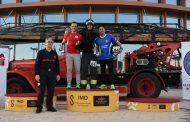 Bomberos de Talavera participan en la cronoescalada Torre Sevilla