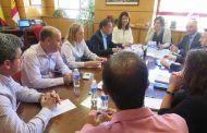 La consejera de Economía, Empresas y Empleo mantiene una reunión de trabajo con el equipo de la Delegación provincial en Cuenca