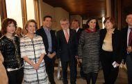 Mª Ángeles Martínez asiste a la inauguración de la exposición temporal: