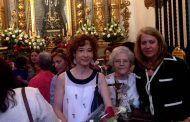 Llanos Navarro y Mª Ángeles Martínez asisten a la misa oficiada en la Catedral de Albacete con motivo de la festividad de Santa Rita de Casia