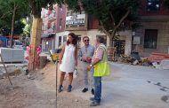 Pilar Zamora conoce la evolución de las obras de la Plaza de Cervantes