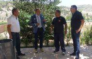 El presidente de la Diputación de Guadalajara visita Alhóndiga y Valdeconcha para comprobar el desarrollo del Plan de Empleo