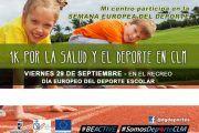 El Gobierno regional anima a los centros educativos a desarrollar actividades en la Semana Europea del Deporte, del 23 al 30 de septiembre