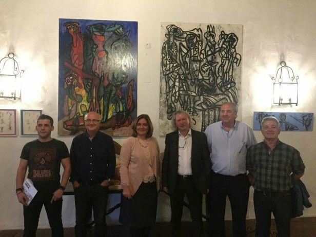 La concejal Marta Segarra inaugura la exposición de Carlos Inda dentro del ciclo 'Días de Arte'