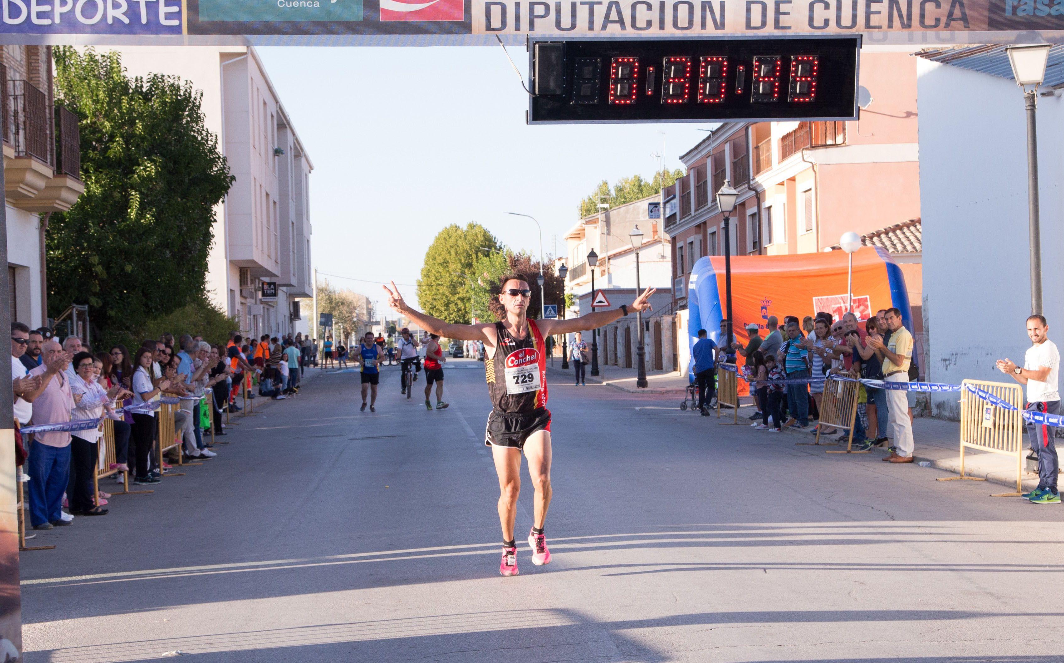 Pablo López y Gema Fernández ganan en Horcajo de Santiago la penúltima carrera popular del Circuito de Diputación
