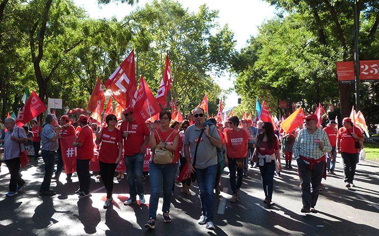 Más de 300 sindicalistas de CCOO CLM participan en la gran manifestación de Madrid para reclamar #PensionesDignas