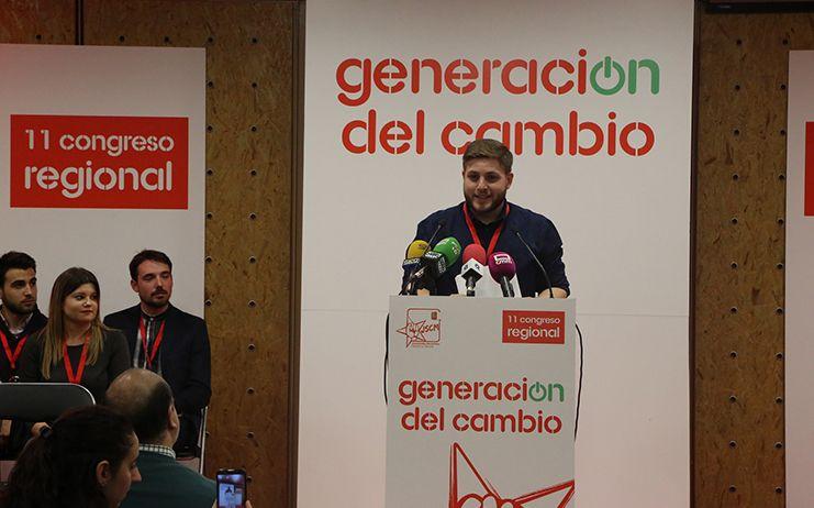 Nacho Hernando reivindica el carácter inconformista de Juventudes Socialistas de Castilla-La Mancha para seguir conquistando derechos y libertades