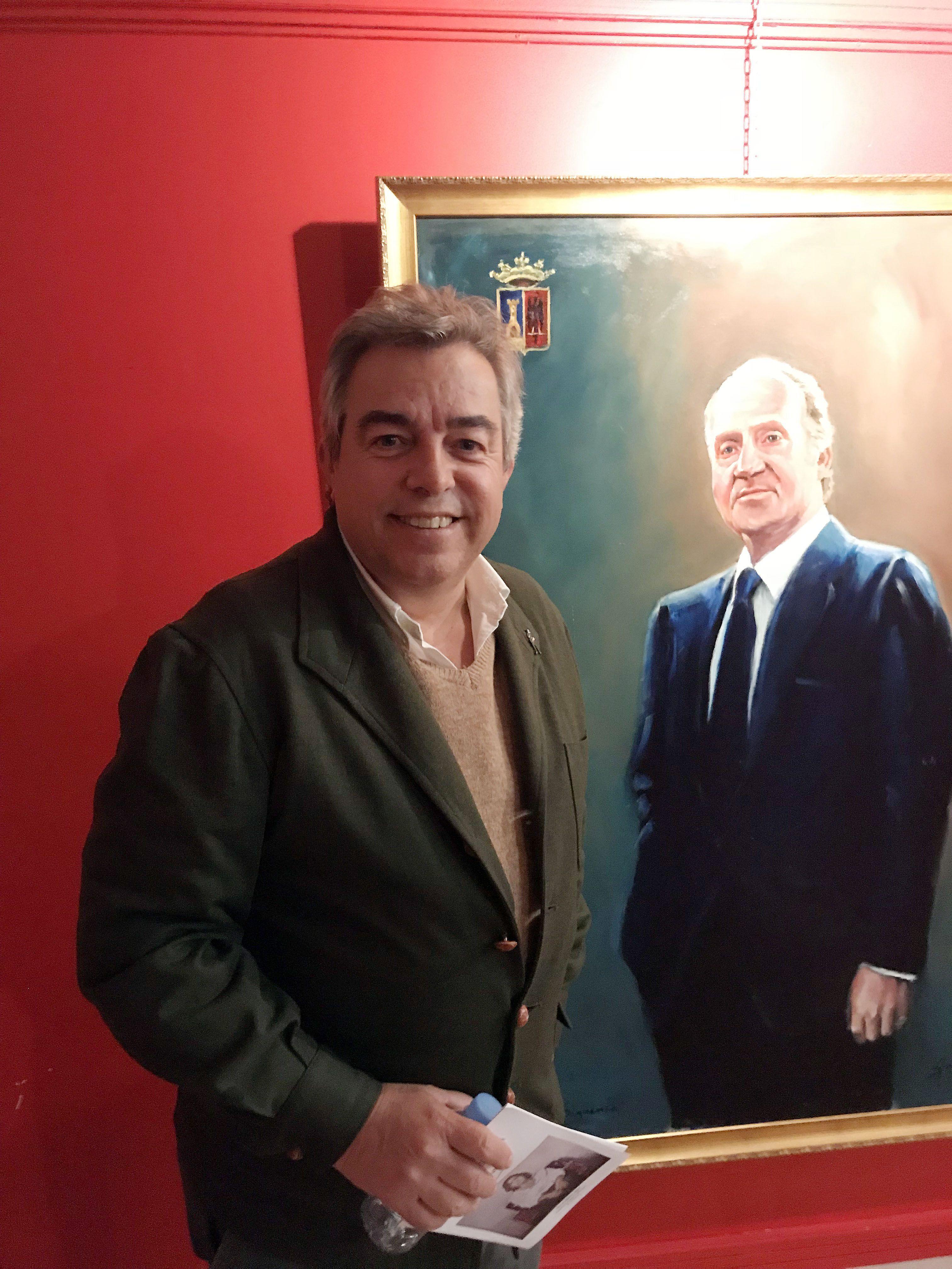 El pintor Emilio Fernández-Galiano donará esta primavera un retrato de Felipe VI al Ayuntamiento de Sigüenza