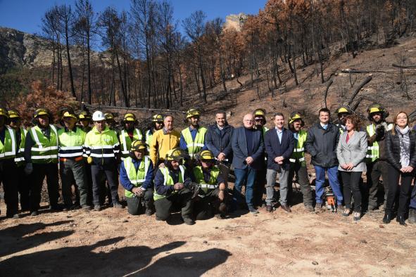 El Gobierno regional coordina el Plan de Recuperación Medioambiental tras el incendio de Yeste de este verano dotado con 700.000 euros