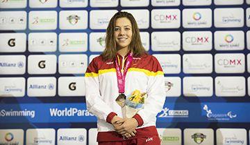 Nuria Marqués Michelle Alonso y Teresa Perales, primeras medallistas españolas en el mundial de natación paralímpico de México