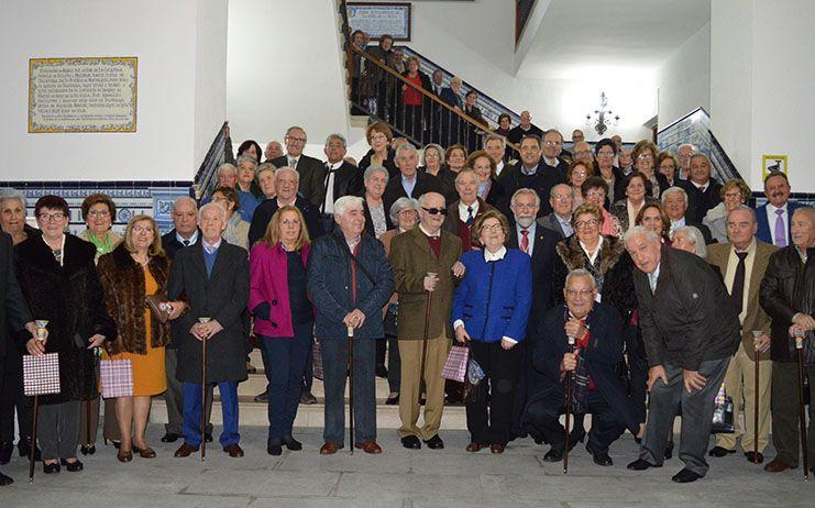 Ramos asiste a los actos de conmemoración de las bodas de oro de varios talaveranos
