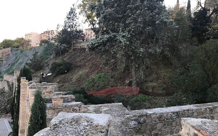 Ayto Toledo mejora el paseo del Carmen con la limpieza y el desbroce del rodadero para renovar su imagen y vegetación