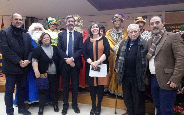 Los Reyes Magos llegan a la Cámara de Comercio de Talavera de la Reina