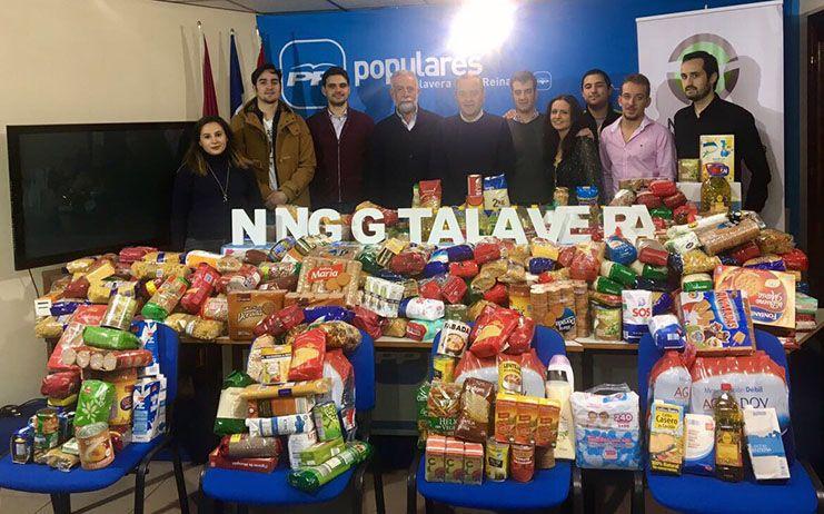 NNGG Talavera cierra su campaña navideña con 1.500 kilos de alimentos