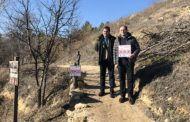 Medio Ambiente presenta las nuevas señales informativas en la Senda de la Rambla de los Molinos en Almansa