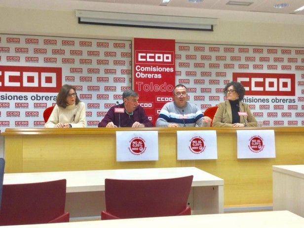 """UGT y CCOO llaman a la movilización el 15-F por el """"Trabajo digno, Pensiones dignas y No al 0,25"""""""