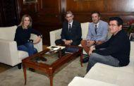 Tolón recibe a los directivos del Colegio Oficial de Ingenieros en Informática de Castilla-La Mancha