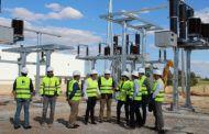 Las obras de la nueva subestación eléctrica de Almansa avanzan a buen ritmo