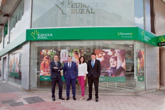 Eurocaja Rural inaugura este viernes su primera oficina en Alicante capital
