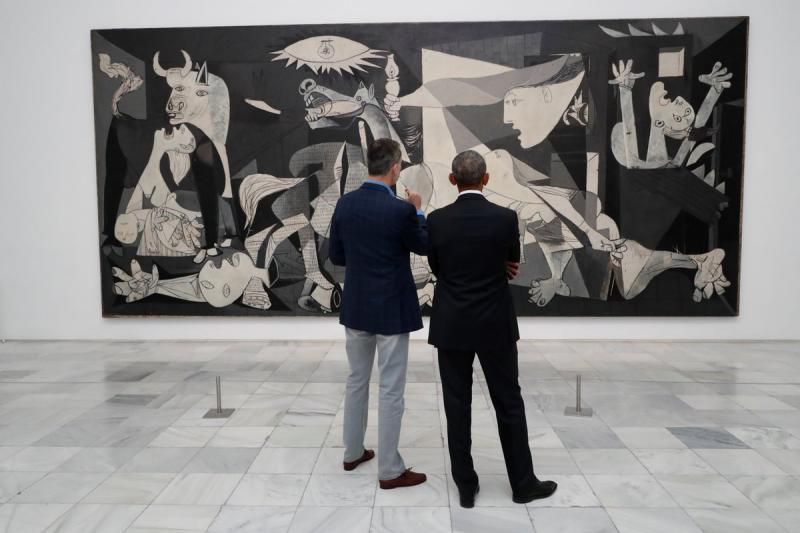 El Rey y Barack Obama visitan el Museo Reina Sofía