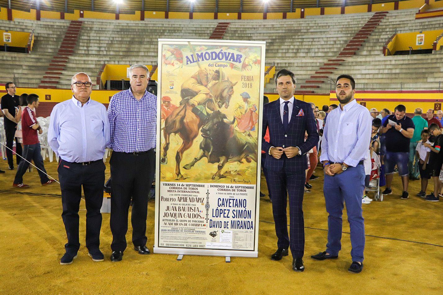 Cayetano, López Simón y David de Miranda cartel estrella en la Feria Taurina de Almodóvar