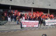Primera concentración en Cuenca de las trabajadoras y trabajadores de limpieza por el bloqueo del convenio