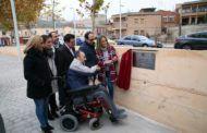 Tolón recibe el respaldo de las entidades de discapacidad en la recuperación del nuevo espacio accesible y peatonal de Safont