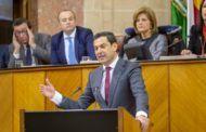 Juanma Moreno, investido primer presidente no socialista de la Junta de Andalucía