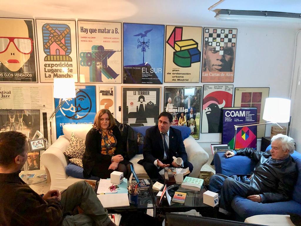 Mariscal y Segarra informan a Cruz Novillo sobre la programación cultural del año 2019 dedicada a su figura