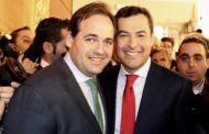 Núñez asiste a la toma de posesión de Juanma Moreno como presidente de la Junta de Andalucía