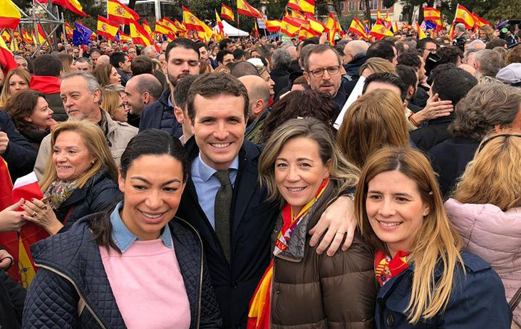 """Alonso: """"Gracias Toledo por defender nuestra Constitución y la unidad de España"""""""