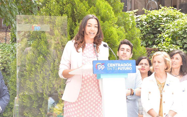 """Claudia Alonso: """"Somos los únicos que tenemos un proyecto de ciudad y de futuro para Toledo y Castilla-La Mancha"""""""