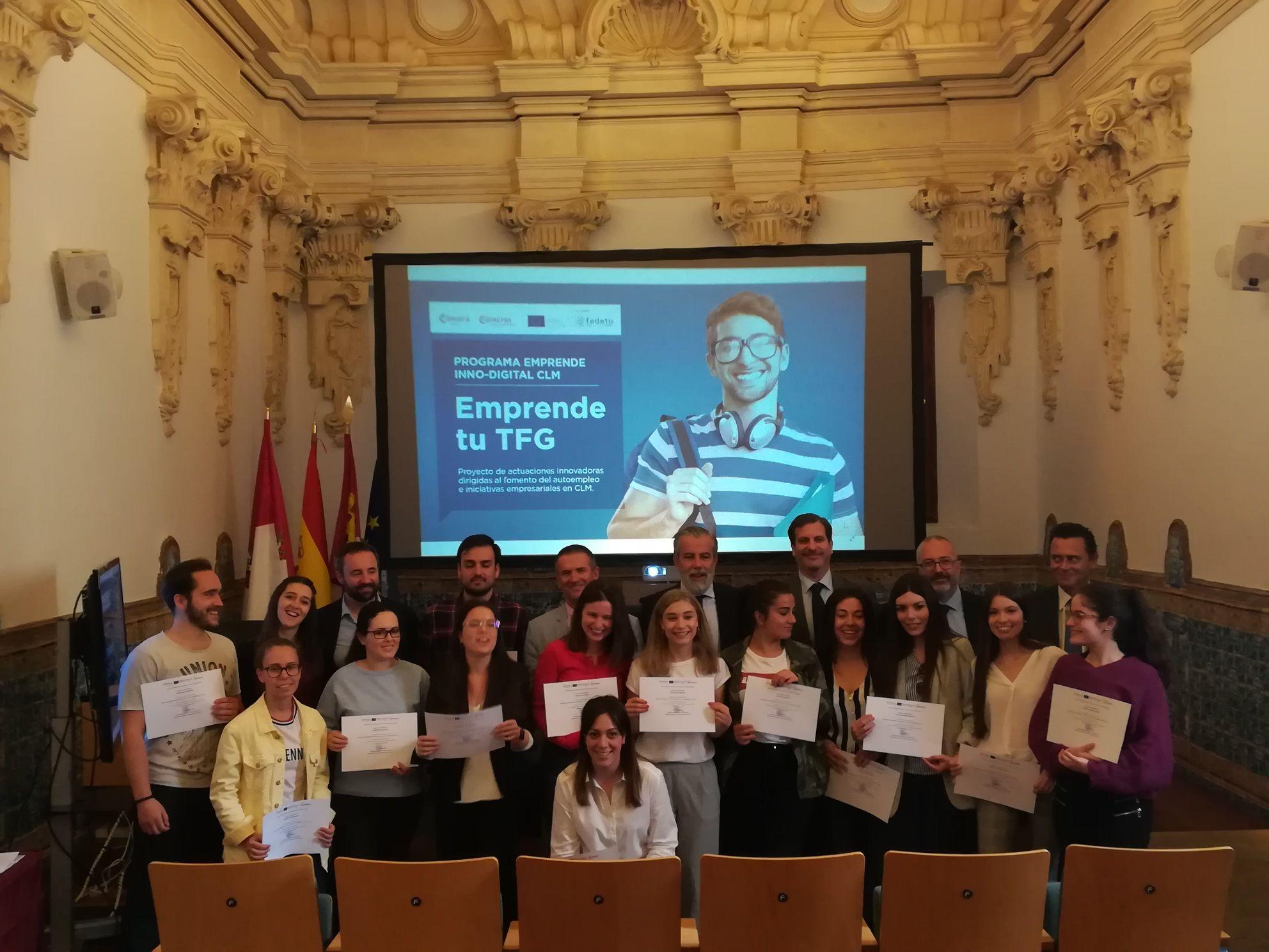 """Clausurada la primera edición del Programa """"Emprende tu TFG"""" de la Cámara de Comercio"""