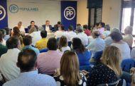 El Comité Ejecutivo Provincial de Ciudad Real aprueba, por unanimidad, la propuesta del PP para diputados provinciales