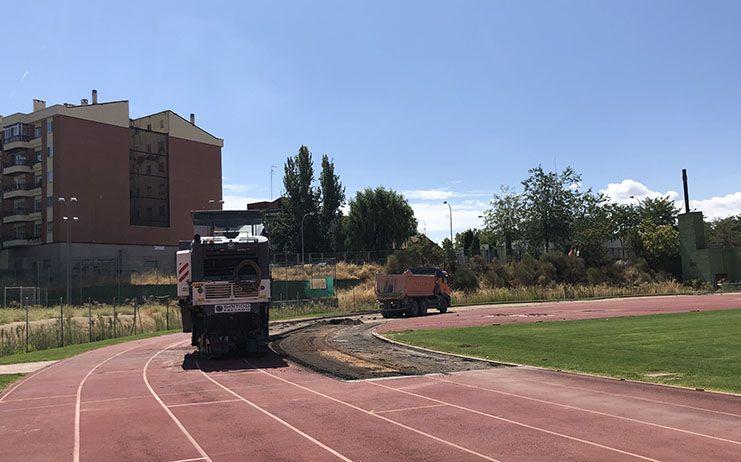 En marcha las obras de la pista de atletismo del Luis Ocaña de Cuenca