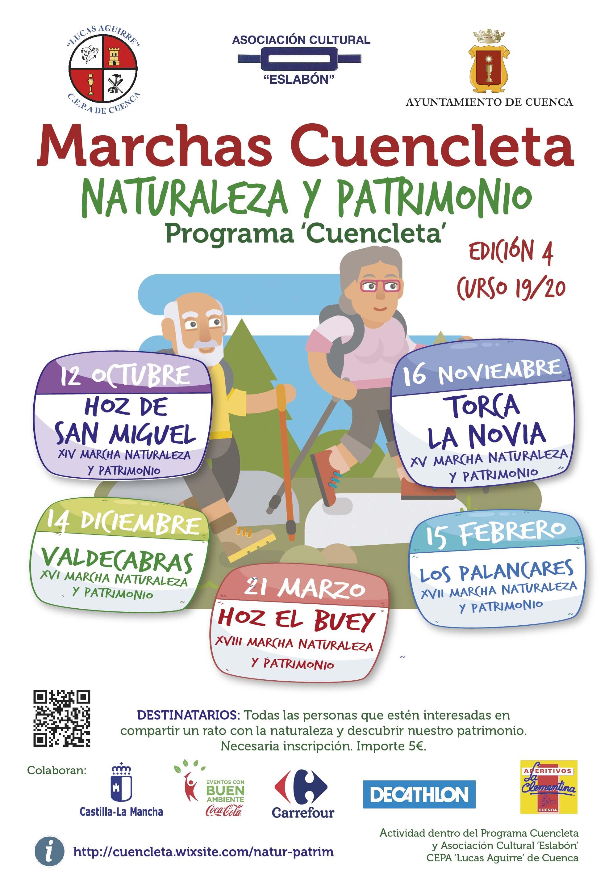 Las Marchas Cuencleta se inician este sábado 12 de octubre con una ruta por la Hoz de San Miguel